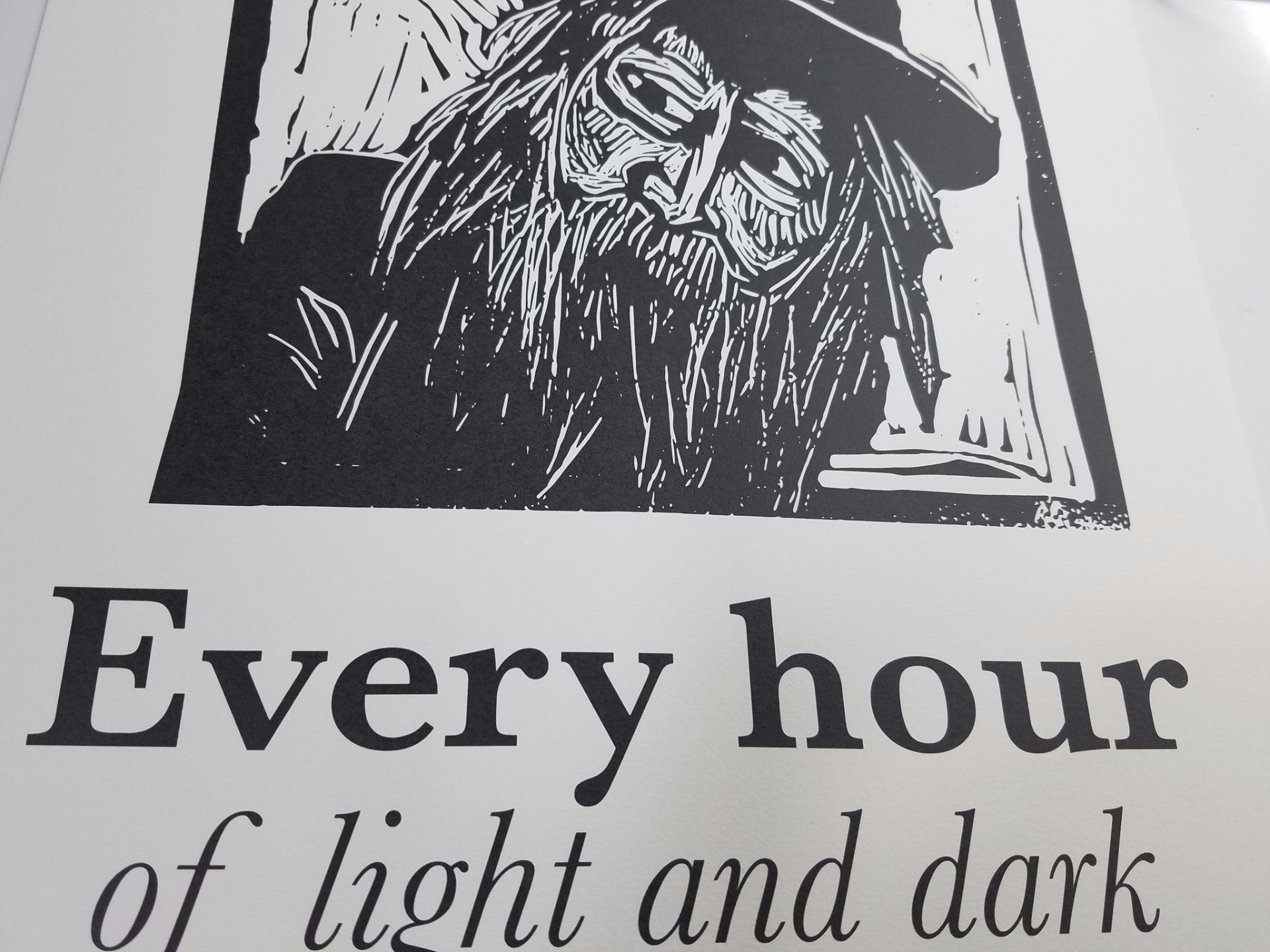 Walt Whitman linocut Art print poster with quote literary gifts by Eastgrove Studio