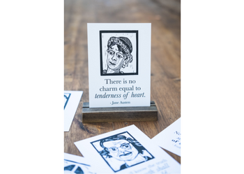 Women of Literature postcard series for book lover. literary gift. east grove studio.
