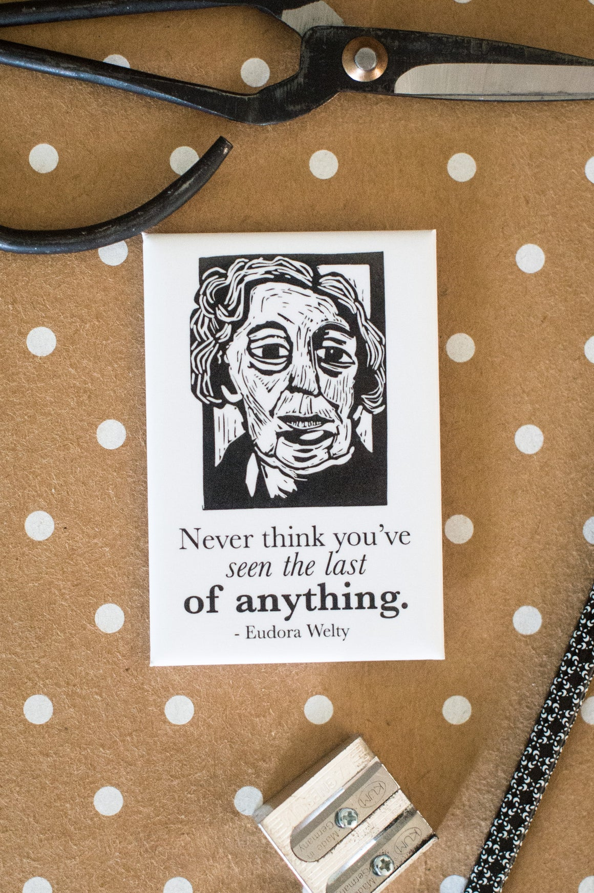 Eudora Welty Art Print magnet with quote Literary Gift by Eastgrove Studio