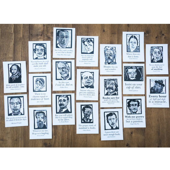 10 or 20 Author Postcards, wholesale