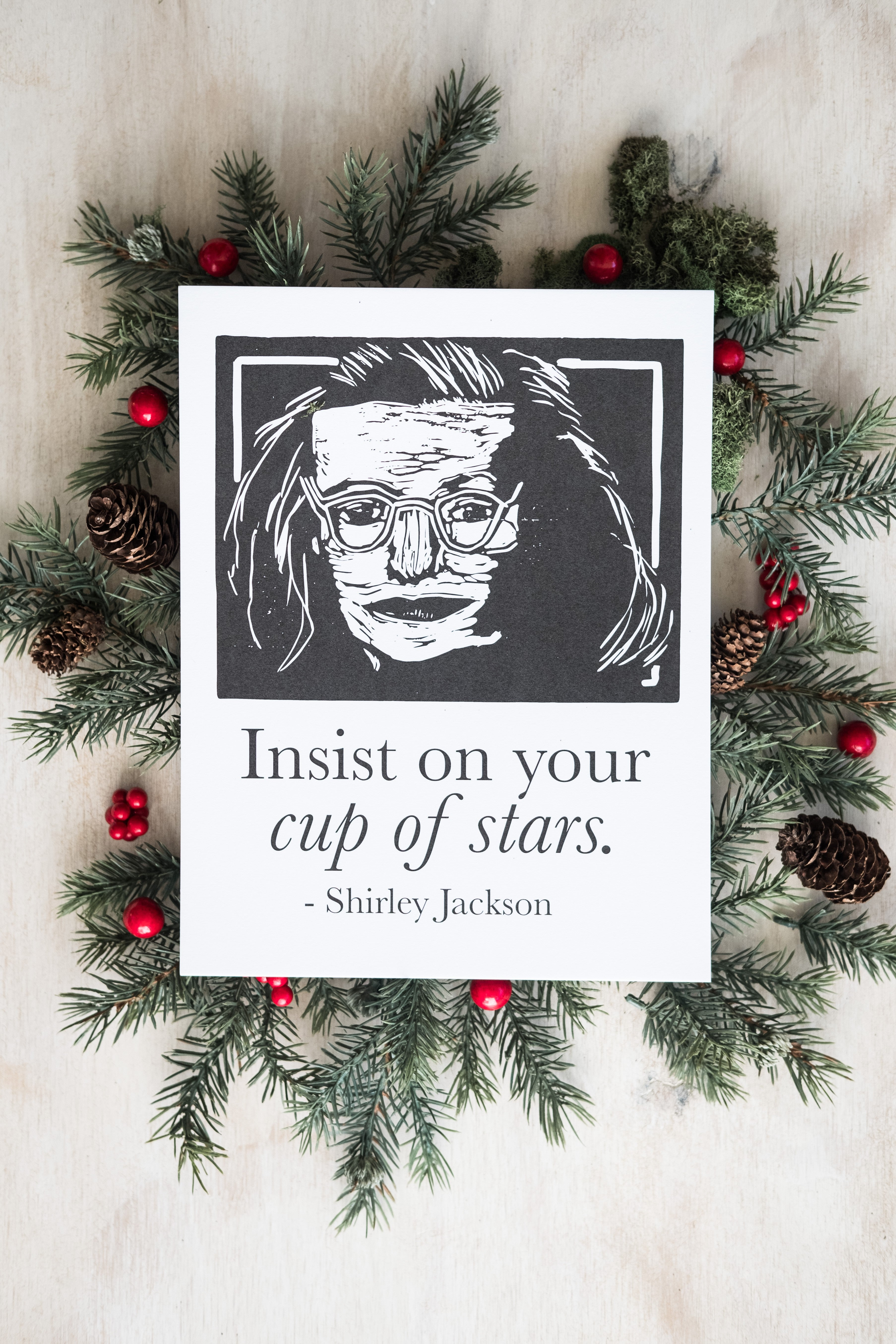 Shirley Jackson Art Print poster with quote Literary Gift by Eastgrove Studio