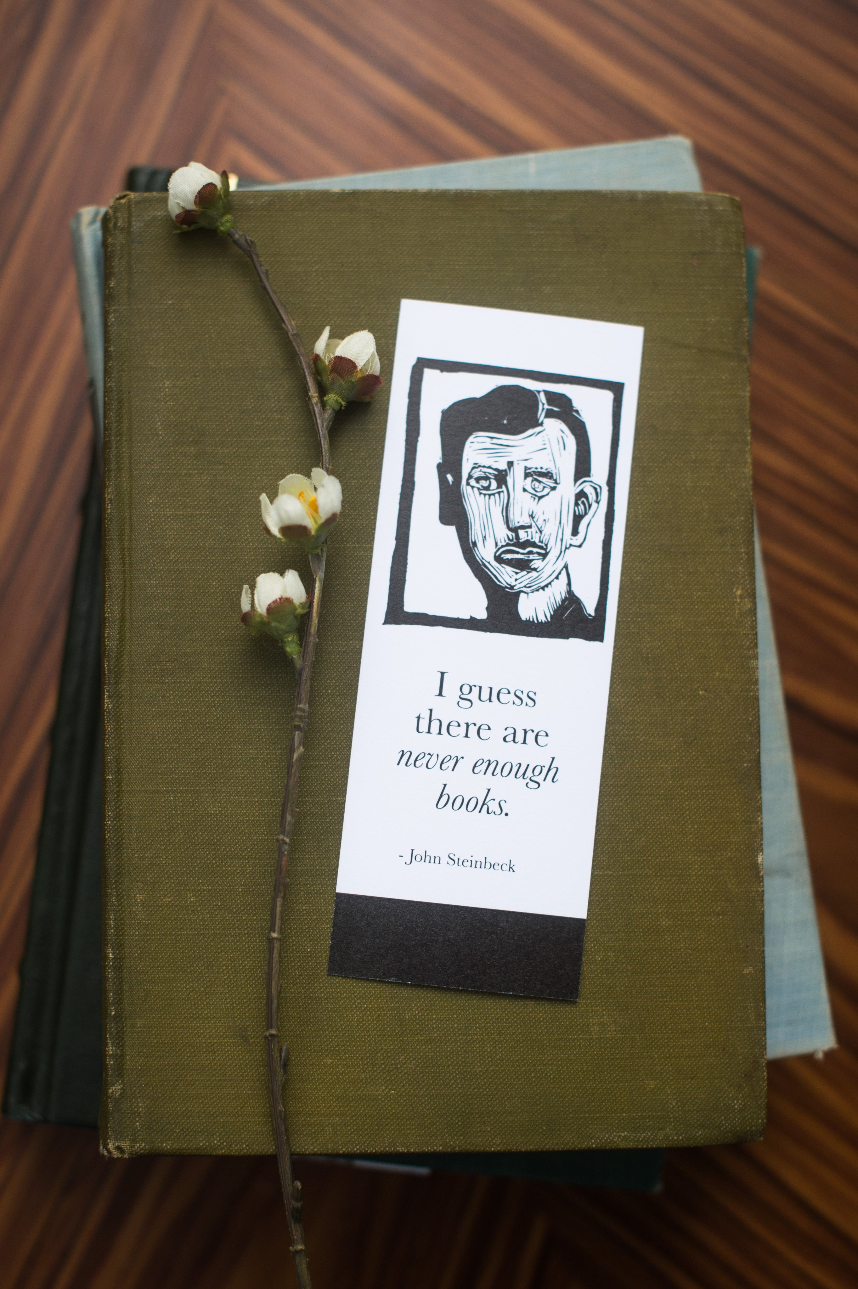 Second set of Bookmarks with Steinbeck and book Literary gifts by Eastgrove Studio