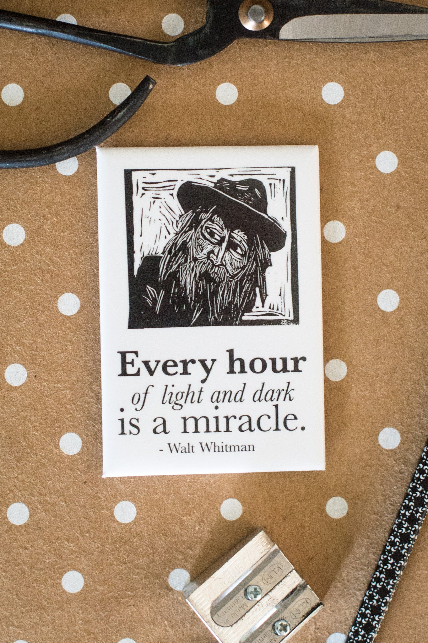 Magnet with Walt Whitman literary gifts by Eastgrove Studio