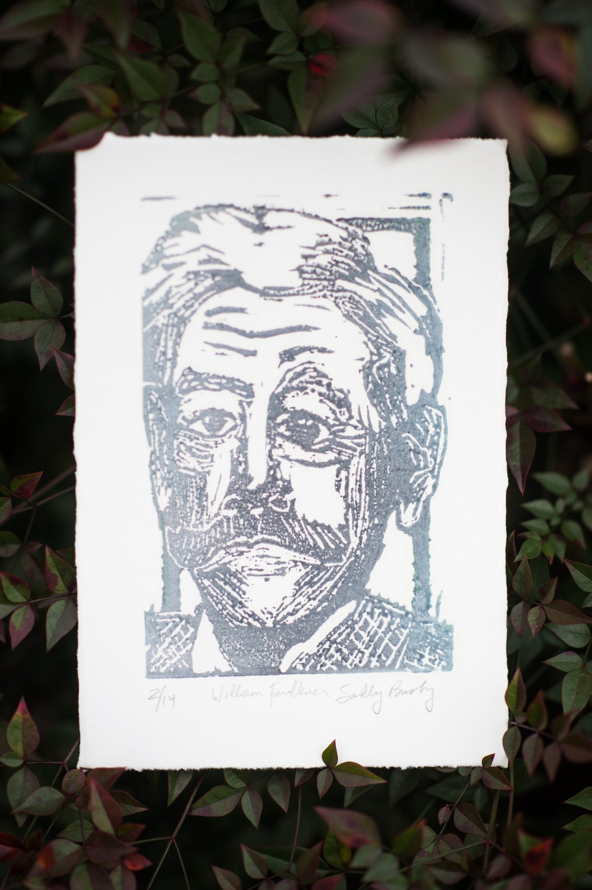 William Faulkner Linocut Print