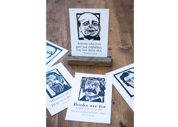 Banned Book postcard series for book lover. literary gift. east grove studio.