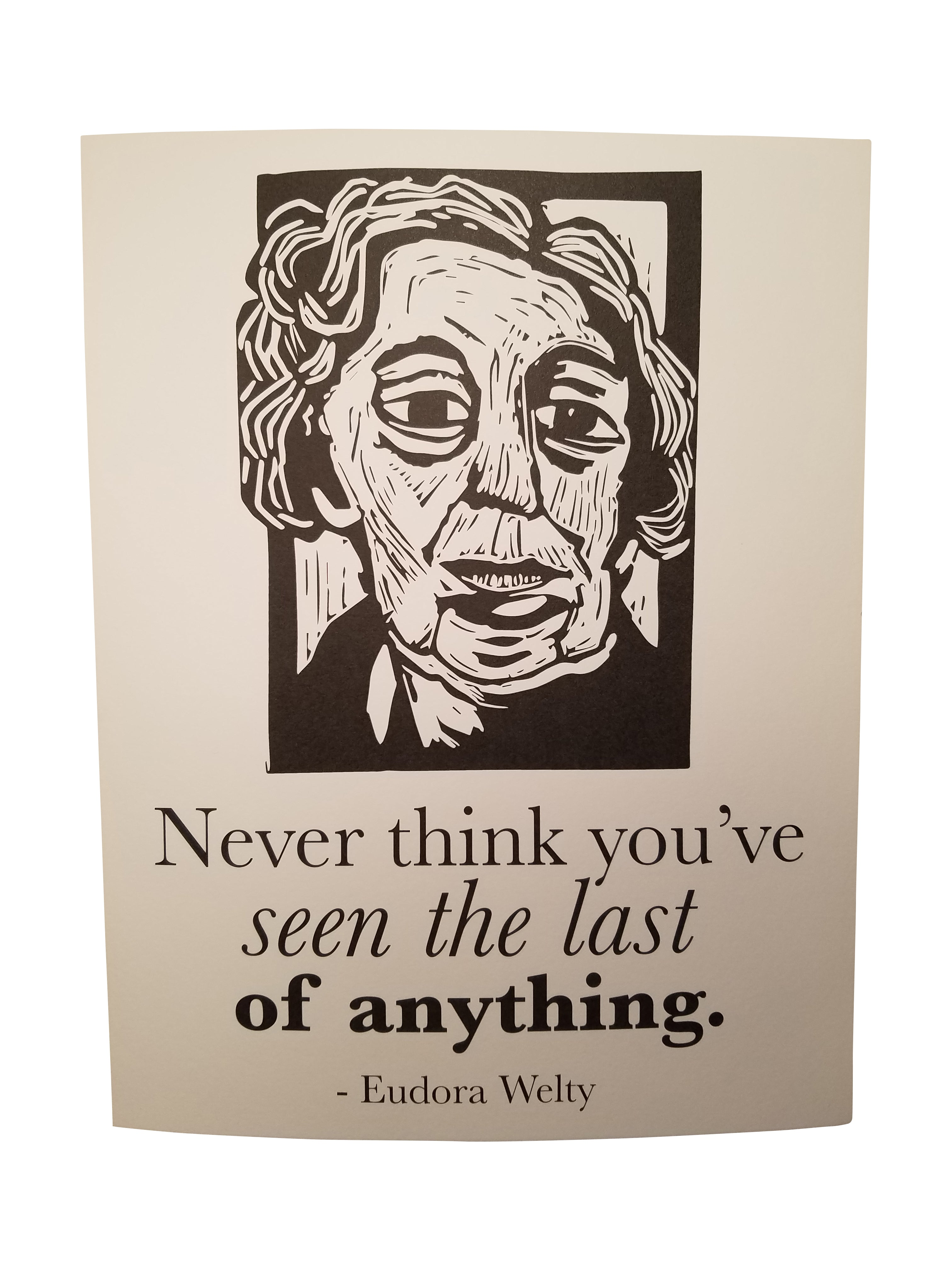 Eudora Welty Art Print poster with quote Literary Gift by Eastgrove Studio