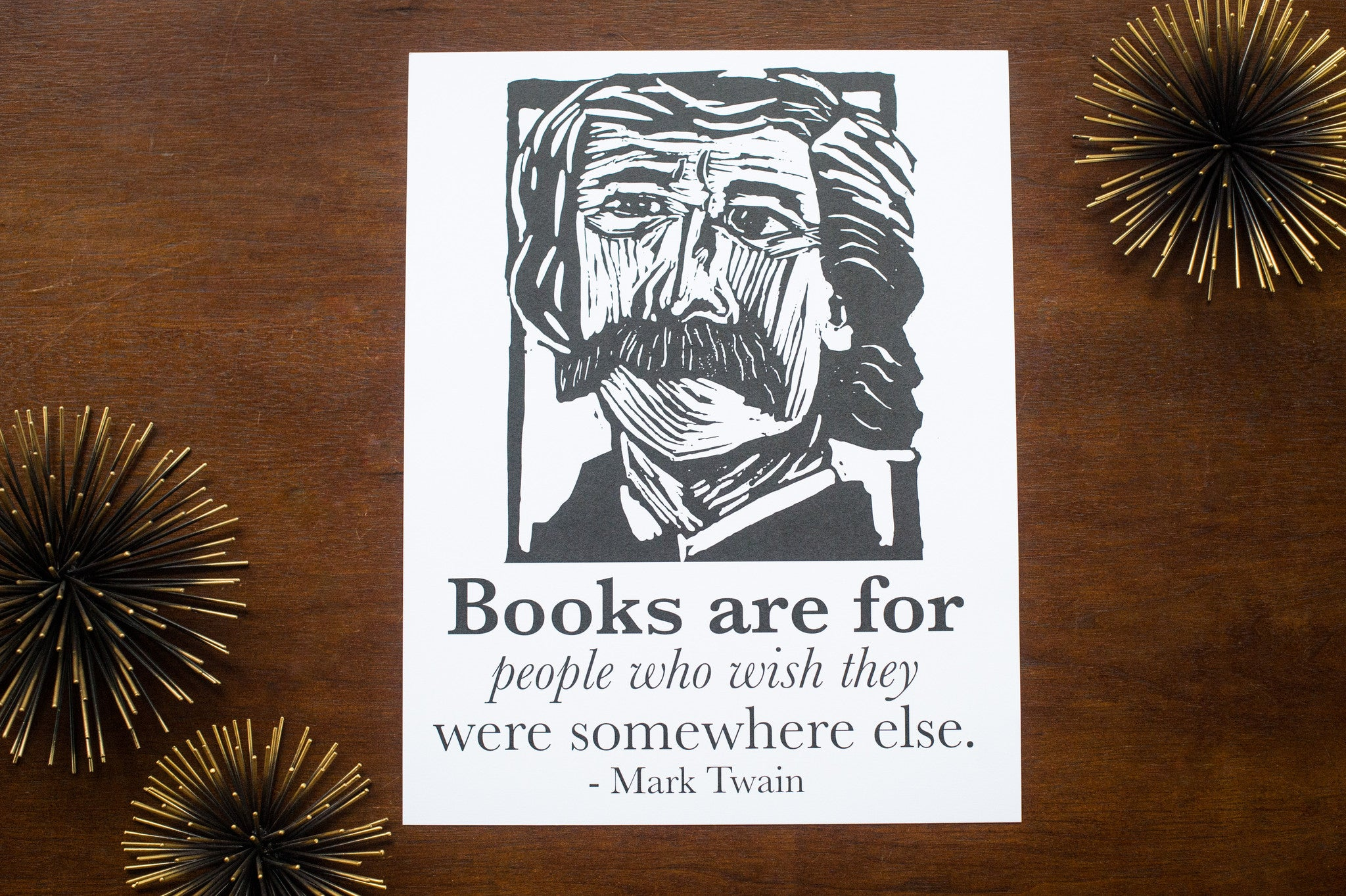 Mark Twain Art Print poster with quote Literary gift by Eastgrove Studio