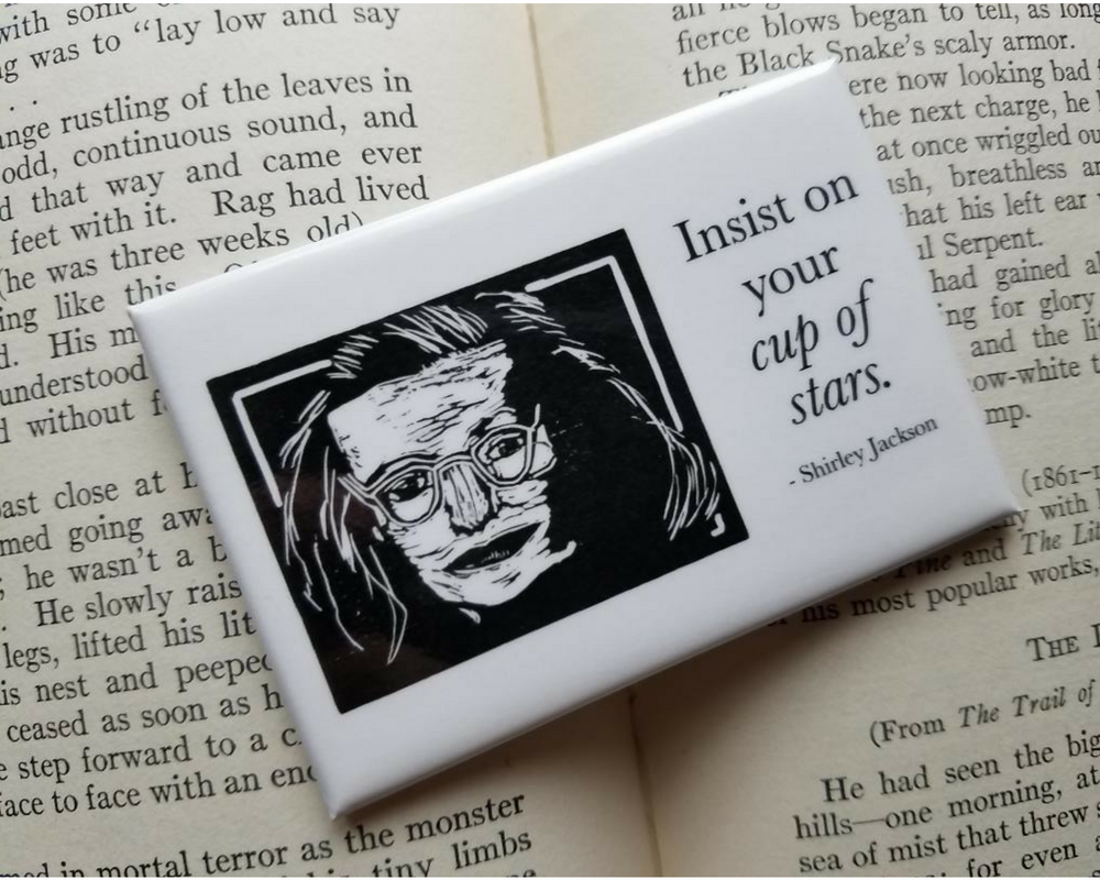 Shirley Jackson Literary Kitchen Magnet