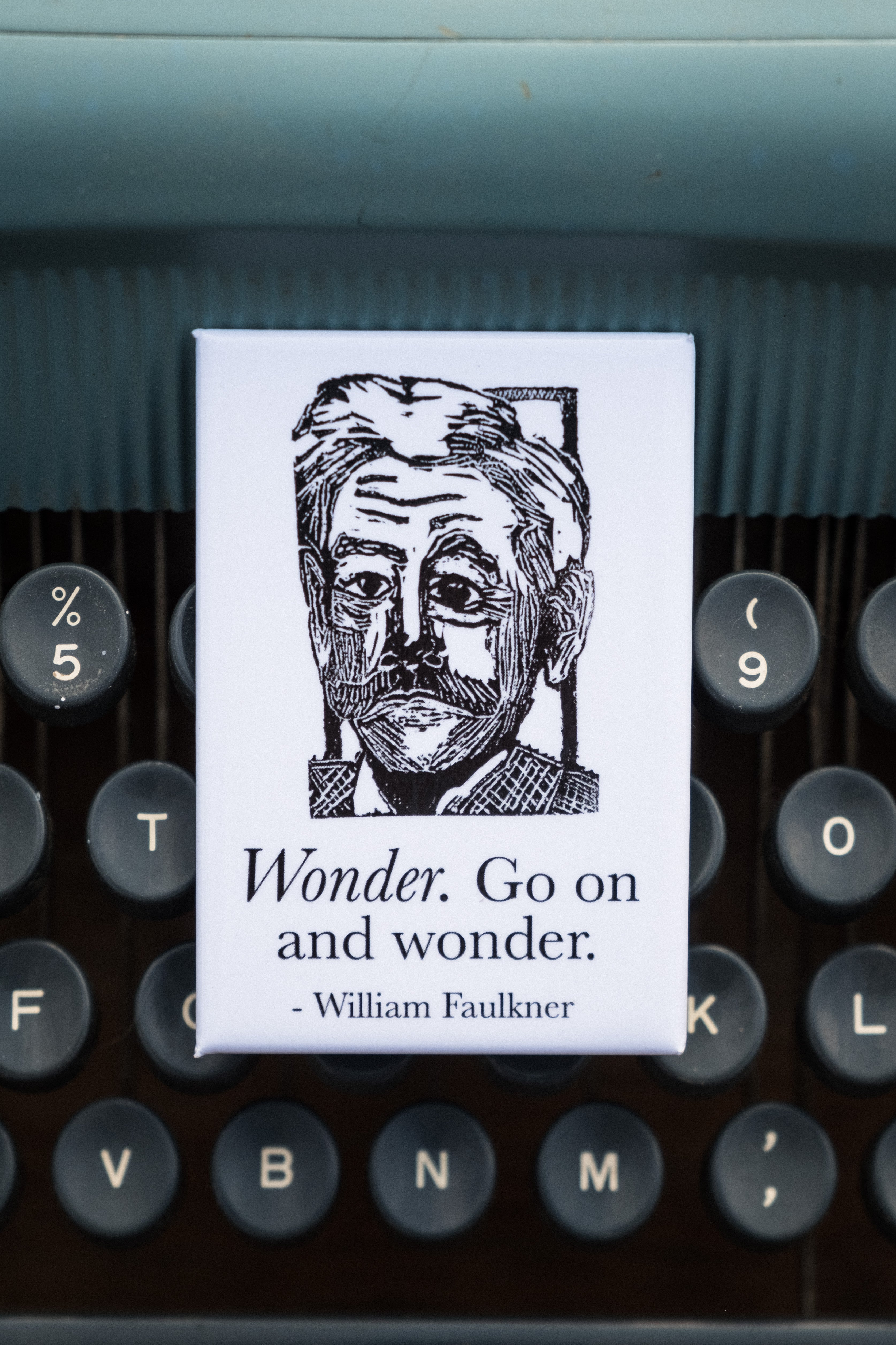 William Faulkner Literary Kitchen Magnet