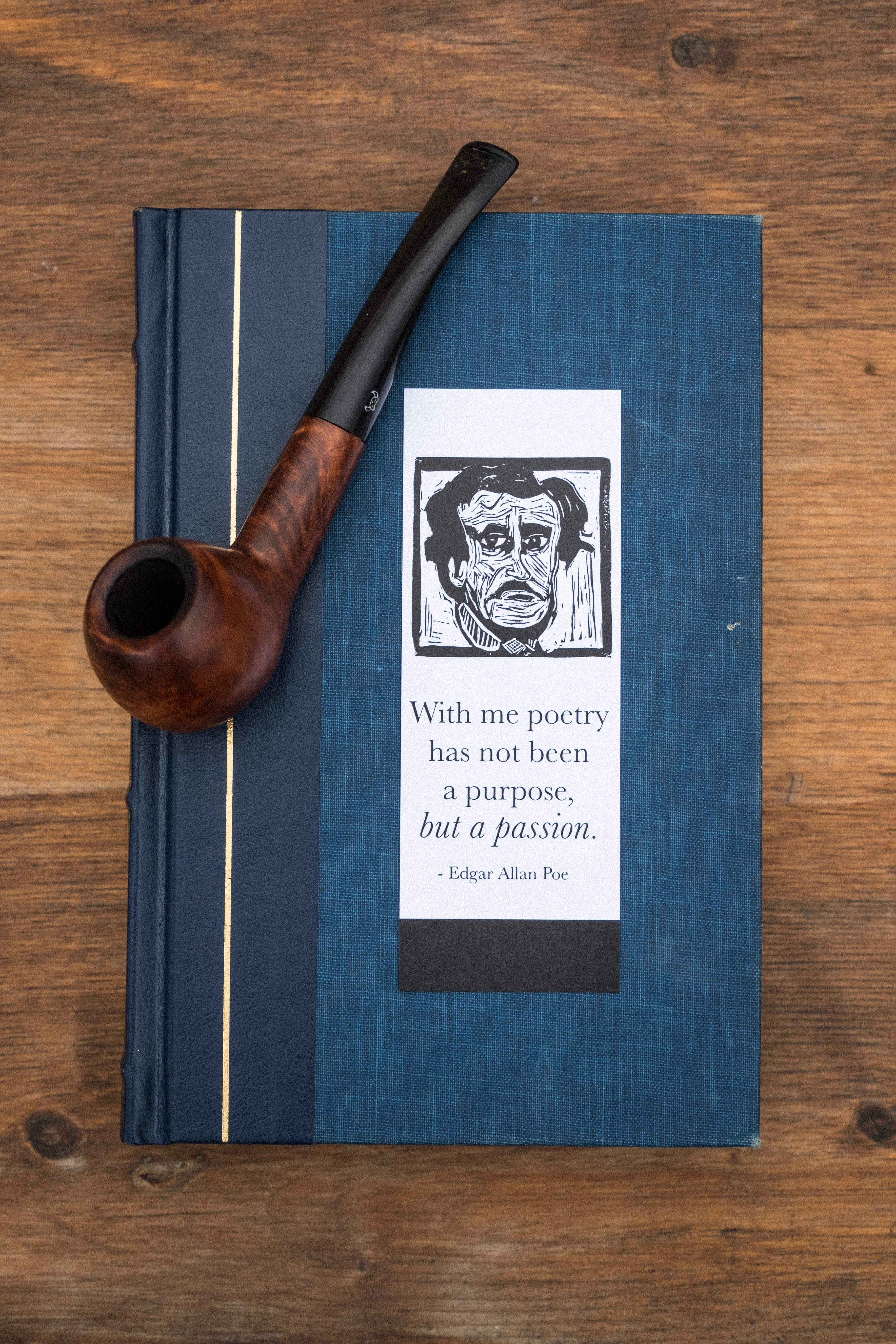 Edgar Allan Poe bookmark. East Grove Studio. Literary gifts