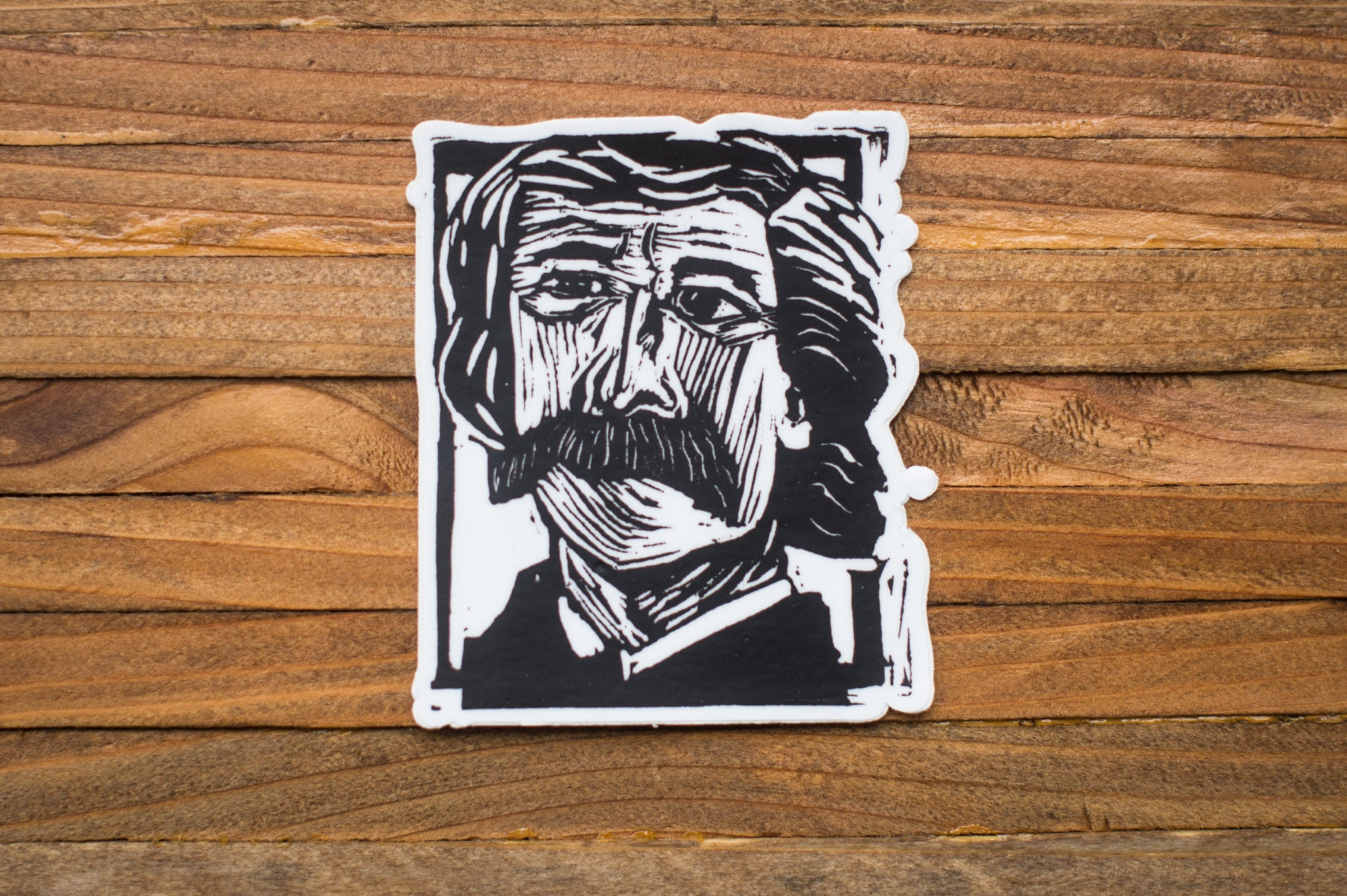 Mark Twain Art Print laptop vinyl sticker Literary Gift by Eastgrove Studio