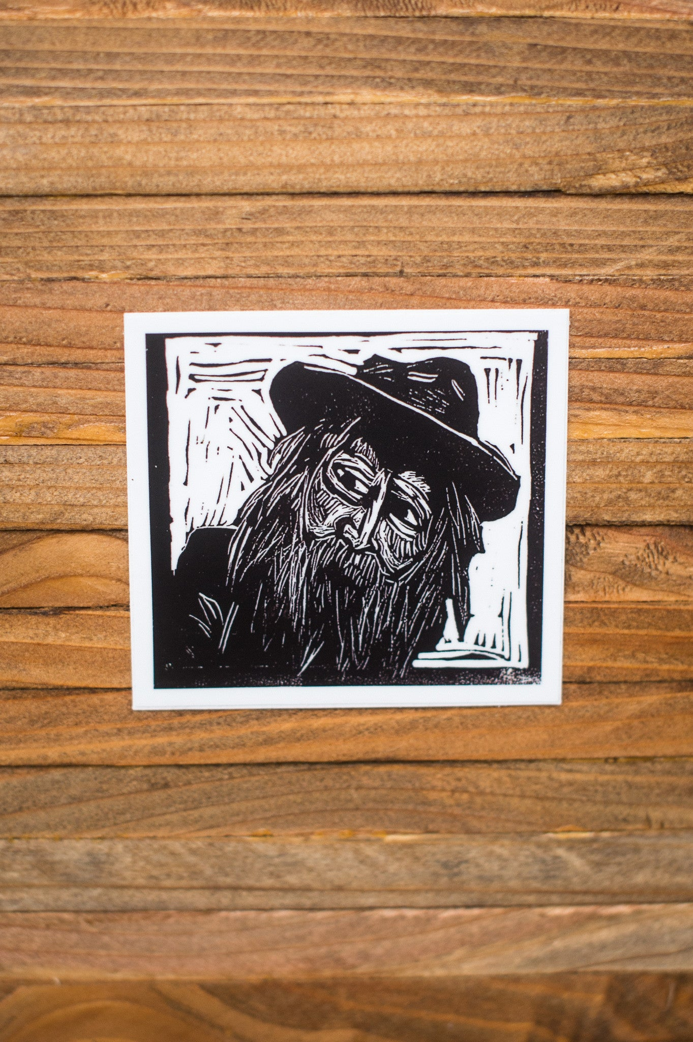 Walt Whitman Art Print laptop vinyl sticker Literary Gift by Eastgrove Studio