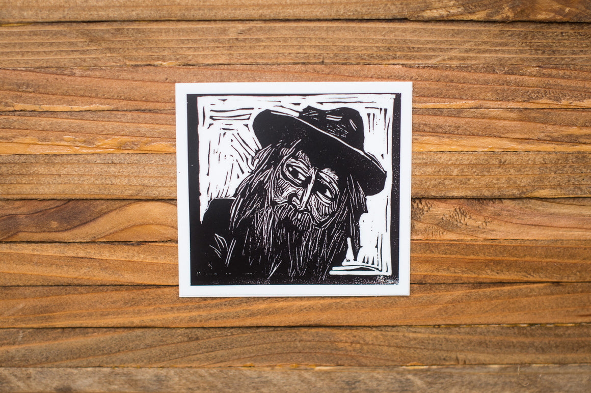 Vinyl Sticker, Walt Whitman