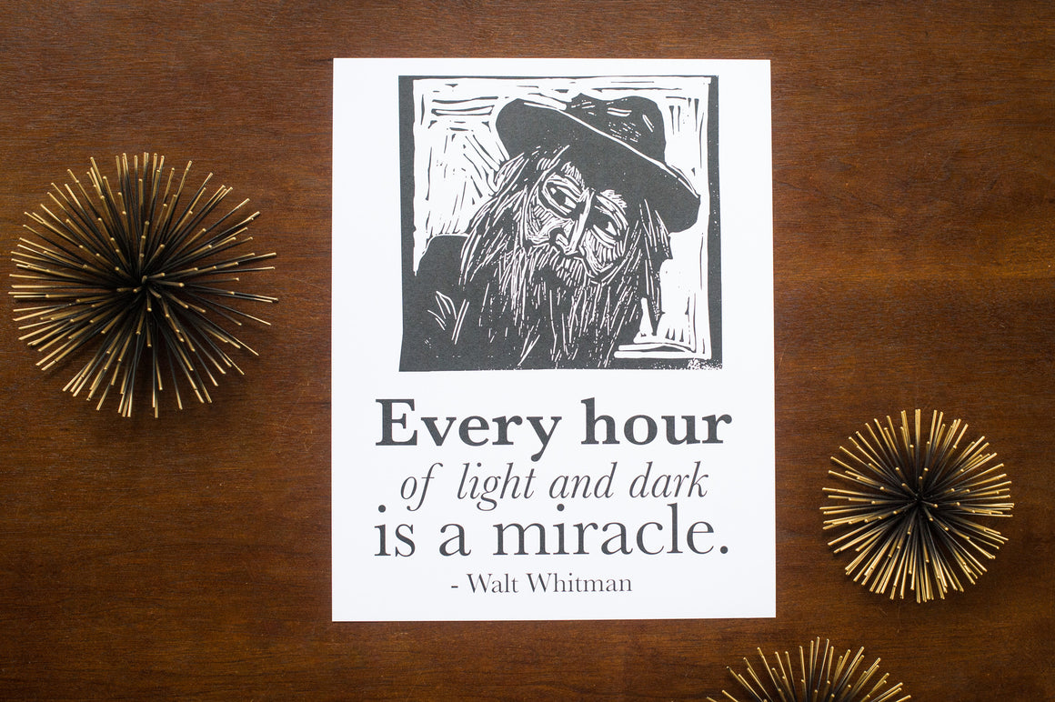 Walt Whitman Quote Poster