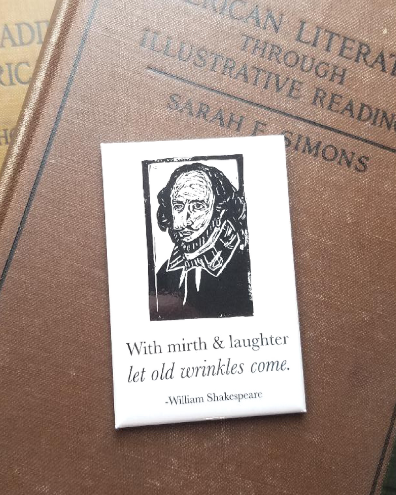 William Shakespeare Literary Kitchen Magnet