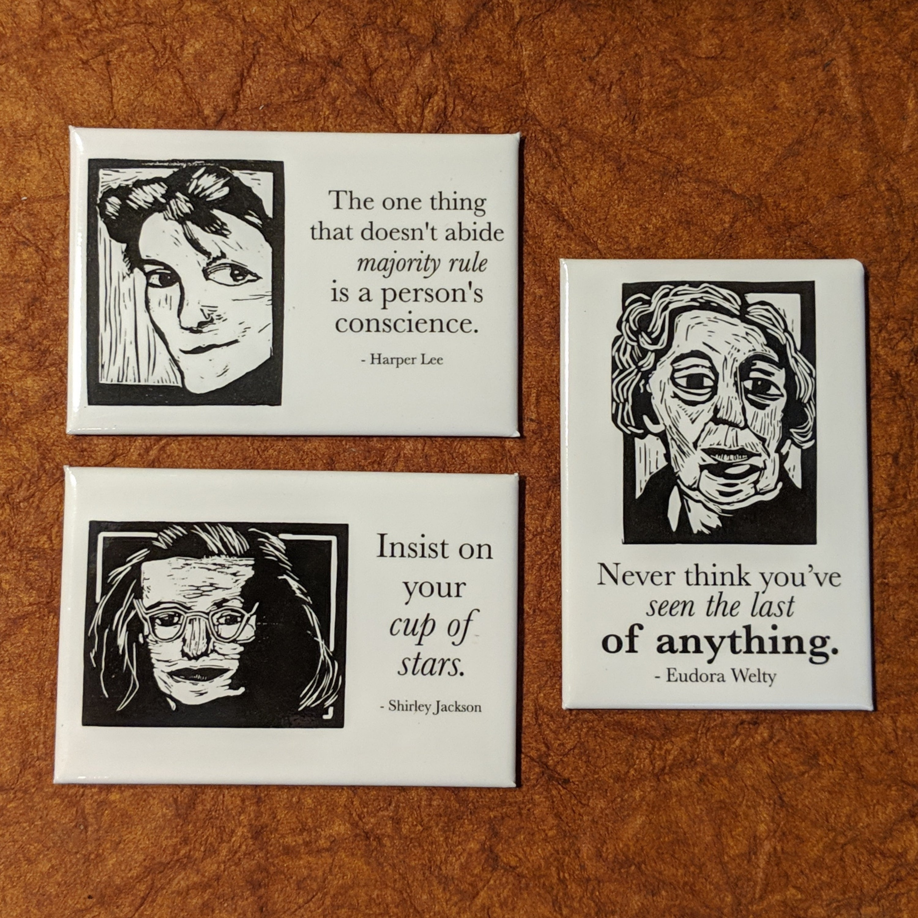 Women of Literature Magnet Set, 3 magnets