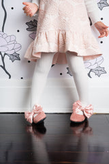 Bow Ballet Flats - Dusty Rose