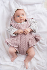 Style Set:  Pudding and Pie Playsuit - Powder Plum and Little Bo Peep Blouse - Magnolia