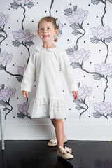 Lucy Locket Dress - Ivory Broderie