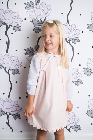Style Set:  Twinkle Twinkle Dress and Little Bo Peep Blouse - Powder Pink