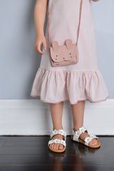 Bunny Messenger Bag - Dusty Pink