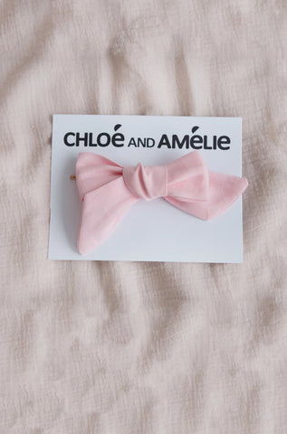Bow Hair Accessory - Ballet Pink