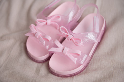 Double Bow Sandals - Pink - Outlet