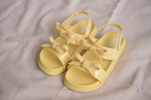 Double Bow Sandals - Yellow - Outlet