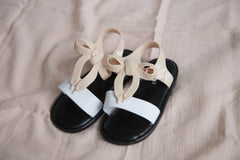 Bow Sandals - Beige & White  - Outlet