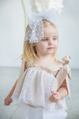 Bow Headband - Hearts Tulle