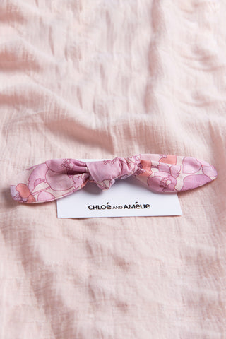 Bow Hair Tie - Floral Buttercup