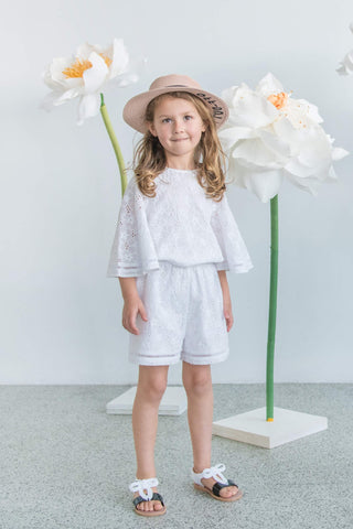 Hear Me Shout Playsuit - Floral Broderie