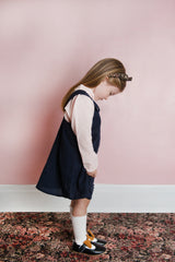 In the Sky Pinafore Dress - Navy Blue - Outlet