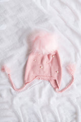 Pom Pom Beanie - Powder Pink - Outlet