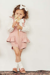 Pudding and Pie Playsuit - Tea Rose