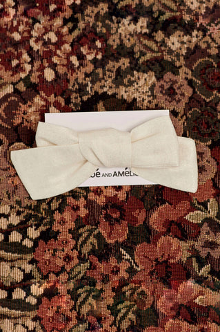 Bow Hair Accessory - Gold Linen
