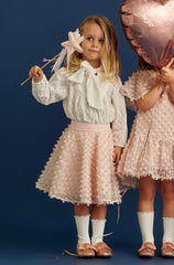 STYLE SET: Over The Hill Blouse - Daisy Broderie and Ran Away Skirt - Rose Gold