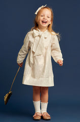 Rocking Horse Dress - Gold Linen