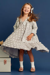 STYLE SET: Hush Little Baby Jacket - Magnolia and In The Meadows Dress - Dove Grey