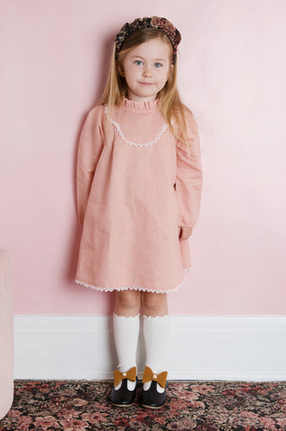 Mocking Bird Dress - Tea Rose