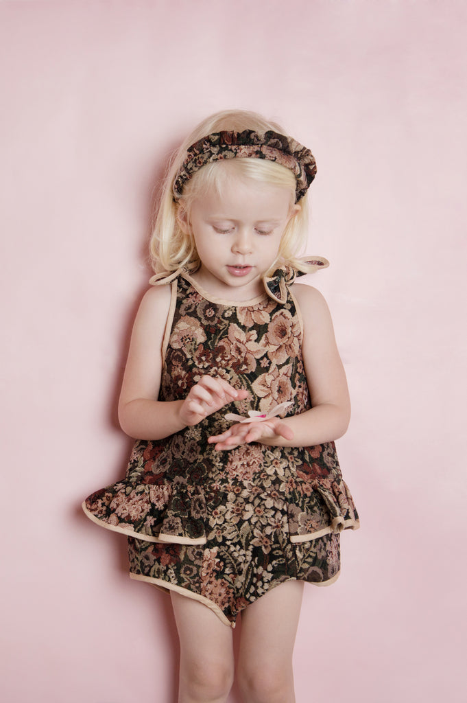 b02a4a56f2 Pudding and Pie Playsuit - Antique Floral