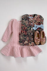 STYLE SET: Hush Little Baby Jacket - Antique Floral and Lucy Locket Dress - Tea Rose