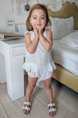 Pudding and Pie Playsuit - Spot Broderie