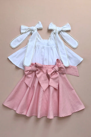 Style Set: One Day Top - Snow White and She Swings Skirt - Ballet Pink