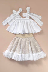 STYLE SET: One Day Top - Snow White and Posie Skirt - Hearts Tulle