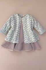 STYLE SET:  Hush Little Baby Jacket - Magnolia and Lucy Locket Dress - Powder Plum