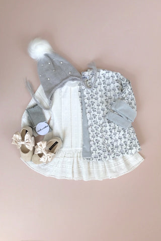 STYLE SET:  Hush Little Baby Jacket - Magnolia and Lucy Locket Dress - Ivory