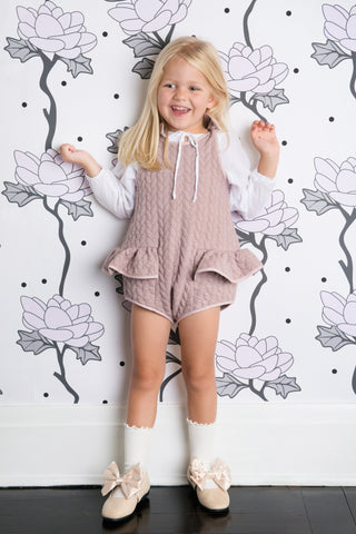 Pudding and Pie Playsuit - Powder Plum