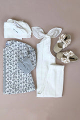 Style Set:  Hush Little Baby Jacket - Magnolia and In The Meadows Jumpsuit - Ivory