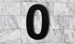 QT Modern House Number - EXTRA LARGE 10 Inch BLACK - Made of solid 304